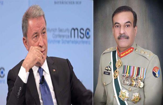 جنرل ندیم رضا سے ترک وزیردفاع کی ملاقات