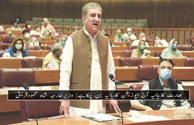 وزیر خارجہ شاہ محمود قریشی  قومی اسمبلی میں